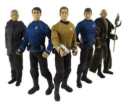 The action figures will be available in a variety of sizes of 3¾-inch ($7), 6-inch ($9-$10) and 12-inch ($30) models. Playsets for the figures will ... - trektoys