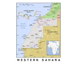 Spain Political Map by Maps Of Western Sahara Detailed Map Of Western Sahara In English