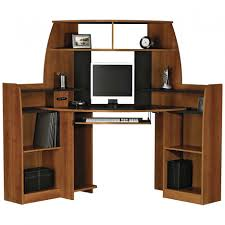 Desk Armoire Inviting Natural Wooden Computer Desk Armoire With File Storage