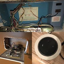 wall mounted cable management system utilize in wall in home speaker system wiring to carry power for