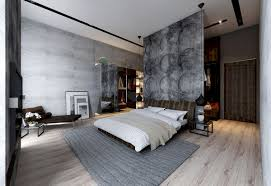 Traditional Korean Bedroom Design Concrete Wall Designs 30 Striking Bedrooms That Use Concrete