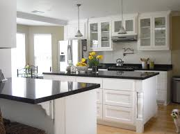 Kitchen Cabinet Glass White Kitchen Cabinets Surrounded With Dash Washer
