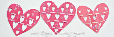 ribbon valentine u0027s card crafts for kids beyond mommying