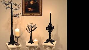 bethany lowe black glitter candelabra black bow halloween shoppe