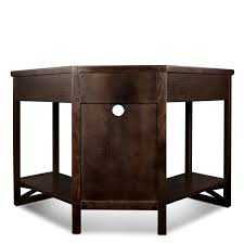 Gaming Corner Desk by Amazon Com Leick Corner Computer And Writing Desk Chocolate Oak