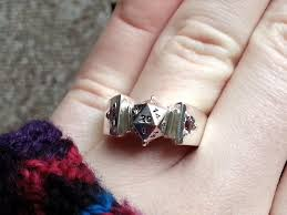 halloween wedding rings how i made a d20 engagement ring for my secret d u0026d