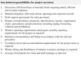 Administrative Secretary Resume Sample by Secretary Job Description Gallery Of Legal Secretary Job