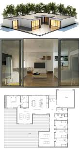 Floor Plans For One Level Homes by Best 25 Contemporary Home Plans Ideas On Pinterest Contemporary