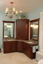 of the space efficient corner bathroom cabinet for your small