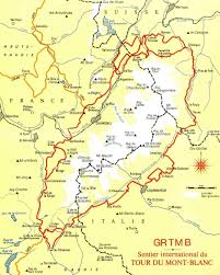 Map Of France And Switzerland by Tour Of Mont Blanc Hike Maps Routes And Itineraries