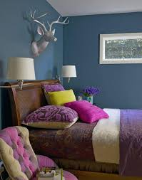 Teal And Purple Bedroom by 25 Stunning Bedroom Designs With Bold Color Scheme Rilane