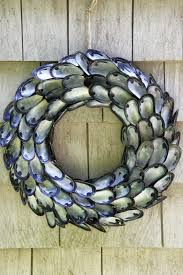 diy how to make a coastal inspired shell wreath made using