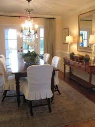 Plastic Seat Covers For Dining Room Chairs by Best 25 Dining Chair Slipcovers Ideas On Pinterest Dining Chair
