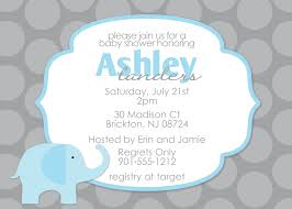 Baby Shower Invitation Cards Templates Baby Shower Elephant Invitations Theruntime Com