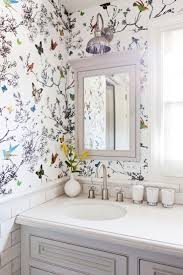 How To Make Small Bathroom Look Bigger Top 25 Best Small Bathroom Wallpaper Ideas On Pinterest Half