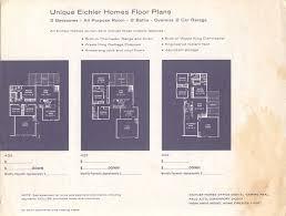 Eichler Homes Floor Plans Eichler Home Images Brochures Neighborhoods