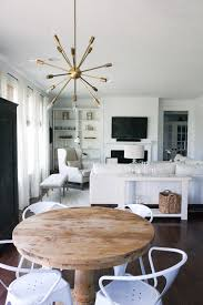 Contemporary Chairs For Living Room by White Living Room Neutral Rustic Pedestal Table Sputnik White