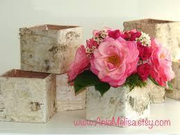Floral Arrangement Supplies by Birch Bark Vases Wood Boxes Floral Arrangement Square Flower