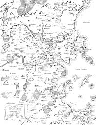 Boston Logan Map by Maps Of Modern Cities Drawn In The Style Of J R R Tolkien