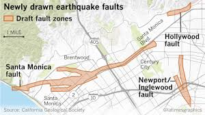 Image Mapping Earthquake Fault Maps For Beverly Hills Santa Monica And Other