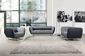 Vietta Modern Grey Tone Fabric Sofa Set - Sofa modern 2