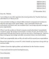 sample application letter for teachers   Basic Job Appication