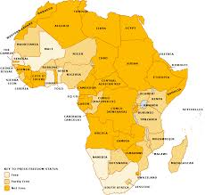 Sub Saharan Africa Physical Map by Swings U0026 Roundabouts Press Freedom On The African Continent