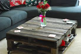 Recycle Home Decor Ideas Appealing Diy Pallet Coffee Table Espresso Painted And Cream Cheap