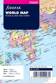 World Time Zones Map by Amazon Com Filofax R World Map Political And Time Zones