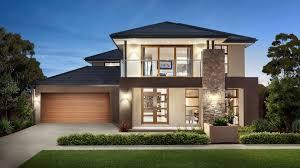 minimalist grey nuance garage under modern home plans that has