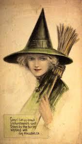 vintage witch postcard halloween postcards u0026 cards