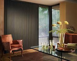 hunter douglas alustra duette vertical blinds living room window
