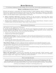 pharmaceutical sales sample resume with medical sales and work     Resumes  Esay  and Example Templates