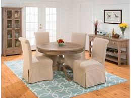 jofran dining room slipcover skirted parson chair 941 162kd