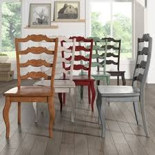 Overstock Dining Room Chairs by Shop For Eleanor French Ladder Back Wood Dining Chair Set Of 2