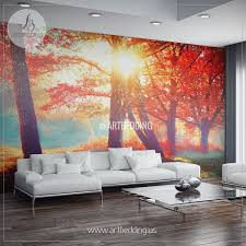 wall murals peel and stick home design ideas autumn fall wall mural self adhesive peel u0026 stick photo mural forest wall mural