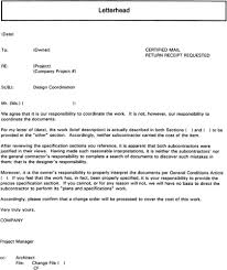Appointment Letter Sample For Subcontractor Legal Support Cover Letter