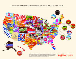 spirit halloween corporate favorite halloween candy by state business insider