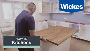 How To Install Kitchen Island by How To Build A Kitchen Island With Wickes Youtube