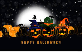 halloween background of wich happy halloween day