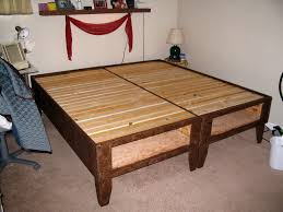Build Diy Platform Bed by Diy Bed With Storage For Under 100