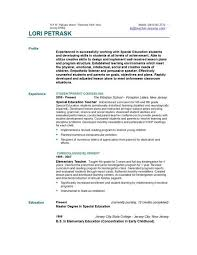 elementary school teaching resume example  I like the lines to help emphasize each different section