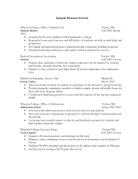 Examples Of Resumes   Resume Example For College Application With     Resume CV Cover Letter
