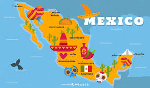 Map Of Juarez Mexico by Illustrated Mexico Map With Traditional Elements Vector Download
