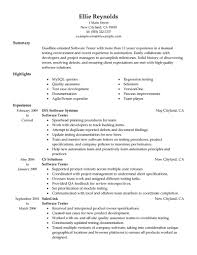 Writing A Summary For Resume Best Software Testing Resume Example Livecareer