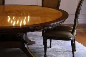 Round Dining Room Table For 10 Custom American Made 7ft Round Satinwood U0026 Mahogany Dining Table