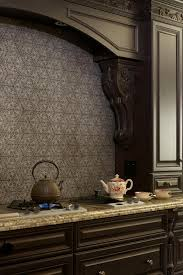 backsplashes brown gray mosaic glass tile backsplash small full size of black wallpaper mediterranean estate pattern kitchen backsplash black cabinets granite countertop antique kettle
