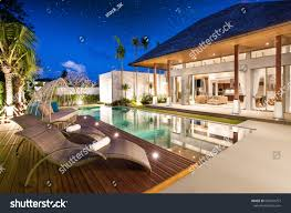 luxury interior design pool villa livingroom stock photo 660324757
