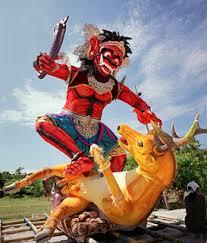 Patung Ogoh-ogoh Gayus untuk perayaan Nyepi