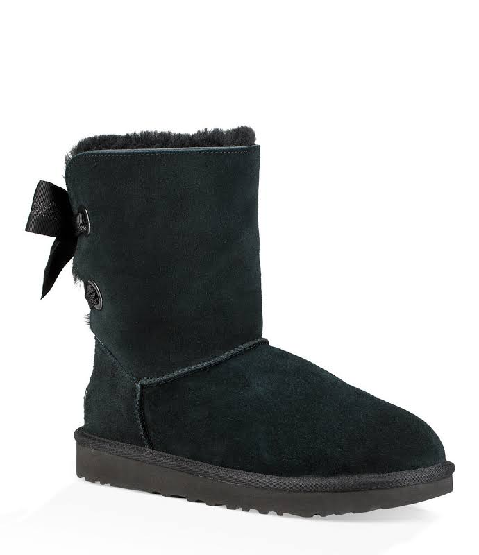 UGG Customizable Bailey Bow Short Boot Black